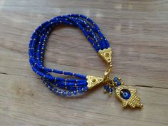 Gold and Swarovski Crystals Hamsa Bracelet
