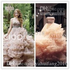 2016 Fashion Ball Gown Wedding Dresses Tulle With Cystal Sequins Strapless Neck Lace Up Floor Length Court Train Bridal Dresses Gown Ball Gown Wedding Dress 2016 Bridal Dress Gown Custom Made Dress Online with $326.0/Piece on Yahuifang2016's Store   DHgate.com
