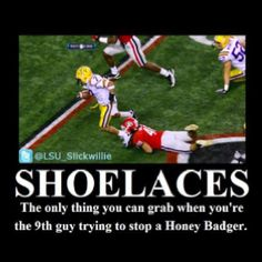 Shoelaces as defense play in football?