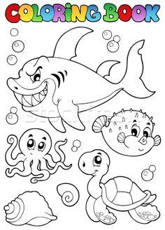 coloriage sur le thème de la mer