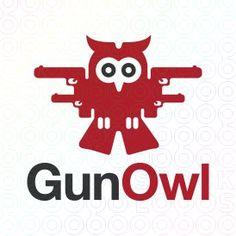 Exclusive Customizable Logo For Sale: Gun Owl | StockLogos.com https://stocklogos.com/logo/gun-owl