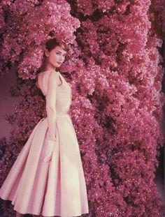 Audrey Hepburn in the 1950s.