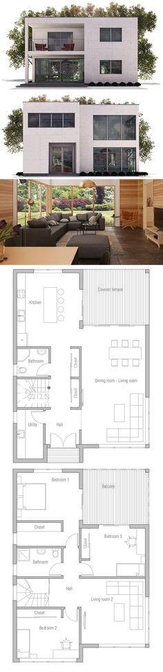 2 pavimentos.  3 quartos.