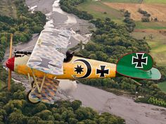 "Albatros DVa...The airplanes of WWI allowed dueling pilots to be the ""Knights of the Sky""."
