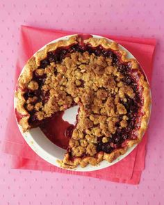 Cherry Pie with Almond Crumble - Sour cherries are a time-honored choice for pies -- they lend a lovely tartness that their sweet cousins Bing and Rainier cherries just can't offer.