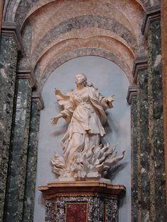 Saint Agnes in Flames by Ercole Ferrata Baroque Sculpture, Sculpture Art, St Agnes, Weaving Art, Sketchbooks, Mj, Baskets, Saints, Objects