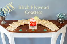 Birch Plywood Coasters Tutorial | DIY Birch Plywood Coasters | Woodworking & DIY | Free plans | Handmade plywood coasters | Wipe-on poly | How to make end-grain wooden coasters | Summer crafts | Cheap & easy DIY | #Tutorial for #Handmade #Endgrain #coasters using #plywood | #Woodworking & #DIY with #freeplans | TheNavagePatch.com