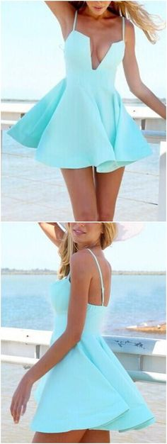 party dresses, cheap mini baby blue homecoming dresses, summer dresses, cute mini dresses