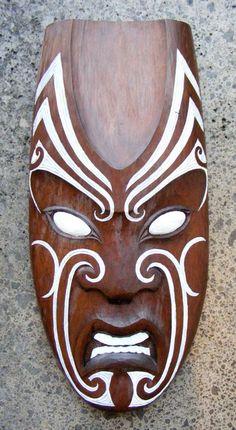 Matt Smiler Kura Gallery Maori Art Design Aotearoa New Zealand Carving Totara Male Mask White Moko Arte Tribal, Tribal Art, Mascara Maori, African Masks, African Art, Tiki Maske, Ta Moko Tattoo, Palm Frond Art, Ceramic Mask