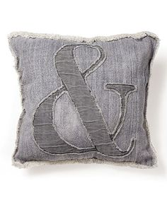 7713f4223a2a Look at this Gray Ampersand Throw Pillow on  zulily today! Settee