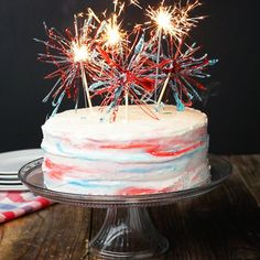 Marbled 4th Of July 'Box' Cake Recipe by Tasty