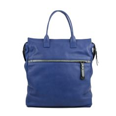 The Sara blue leather backpack is new to our range, she is a great bag for all events. The Sara leather backpack has been designed as a back pack and grab bag, the perfect bag for work and utility.  Use her to stowe documents laptop etc and when you are dashing for the train pop her on  your back as a back back. With contrast details in courmayeur the Sara leather backpack has the ability to be used for smart or casual. Cotton drill striped lining with inside zip pockets and mobile phone…