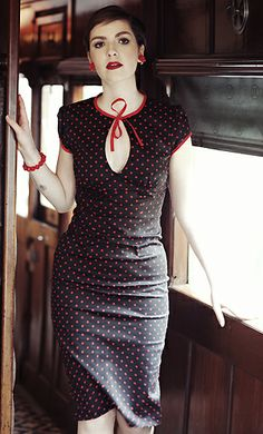 Adorable 40's inspired polka dot dress