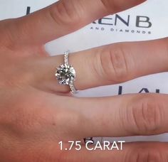 Lauren B Jewelry 1.75 carat engagement ring model RS-122
