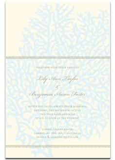 coral wedding invitation #beach wedding #wedding invitation