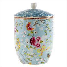 Pip Studio Chinese Rose Storage Jar - Blue (57 CAD) ❤ liked on Polyvore featuring blue