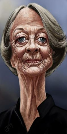Dame Maggie Smith Wittygraphy: The social network to share, discuss, promote the art of caricature