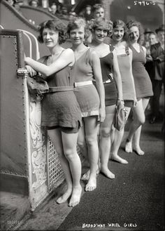 """New York, July 5, 1921. Chorus girls for """"The Broadway Whirl,"""" a musical comedy revue at the Times Square Theatre"""