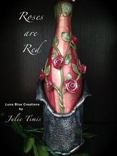 Luna Blue Creations: Roses are Red Polymer Clay Wine