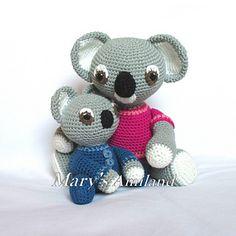 Mom and Baby Koalas The Amis by Mary's Amiland