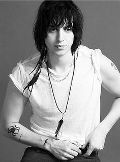 "Julian Casablancas - Lead Singer in the Band ""The Strokes"" I find him so cute/hot, has an amazing voice and love his unique style.. I want I want lol :)"