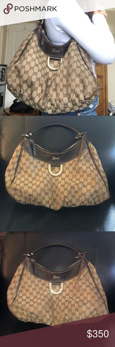 a518bce39ee3 Vintage Gucci bag with GGs Authentic Gucci bag: This is really hard for me  to