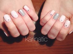Pink and silver cnd shellac