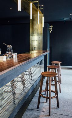Maximilian Gradl and his partners originally intended to open a champagne bar, but after a survey of the light-filled L-shaped space in a post-Modernist pile built in the late 1950s by Sepp Ruf and Theo Pabst, the Zurich-based architects Build_Inc had ...