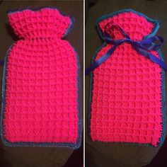 Waffle stitch crochet hot water bottle cover. Just in time for the cold wet nights. This is my own pattern!! And really easy. May have to start writing these up!!