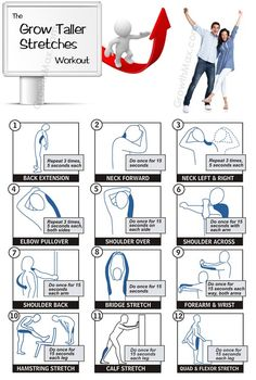 stretching exercises with pictures   Performing these stretches will help you grow taller