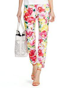 a41482f46 Floral-Print Skinny Pant - Polo Ralph Lauren Pants - RalphLauren.com Bright  Pants