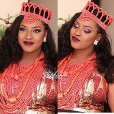 Gorgeous Bride Yvonne Pretty makeup by Kids Outfits Girls, Girl Outfits, Igbo Wedding, Coral Jewelry, Jewelry Sets, African Attire, Pretty Makeup, Traditional Wedding, Beautiful Bride