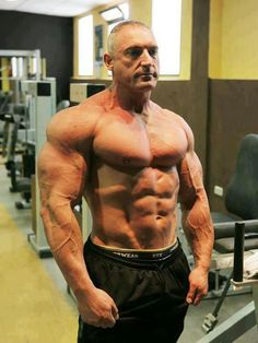 This man… is 65 years old. Can I look that good at his age? Can i look like that now? I dont' know, man. Roids? Maybe