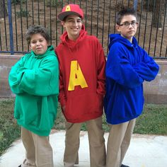 Group of three Halloween costume idea Alvin and the Chipmunks three brothers & The Chipettes! | Halloween Costume Ideas | Pinterest | Cosplay ...