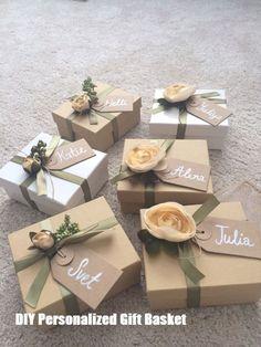 Bridesmaid proposal boxes wedding bridesmaids gifts, how to ask your brides Wedding Gift Wrapping, Wedding Gift Boxes, Diy Wedding Favors, Gifts For Wedding Party, Party Gifts, Diy Gifts, Bridal Parties, Wedding Ideas, Bachelorette Parties