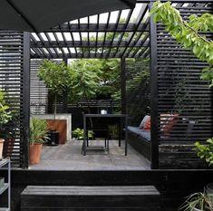 Pergola Patio, Backyard Fences, Pergola Shade, Pergola Plans, Pergola Kits, Backyard Landscaping, Diy Fence, Fence Ideas, Rustic Pergola
