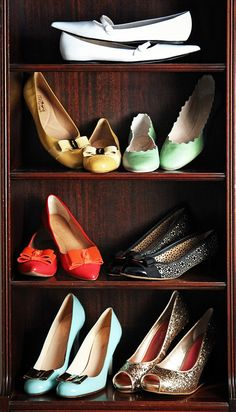 Take me away to warmer days with shoes that scream of Spring.~Scallop, Sparkle, Toes with Bows, and Lots of Minty Green~