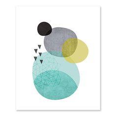 Scandi Pebbles art print