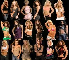 Beth Phoenix Candice Michelle Cherry Eve Jillian Kellykelly Layla Lena Yada Lilian Garcia Maria Maryse Melina Michelle McCool Mickie James Natalya Victoria Ashley Katie Lee