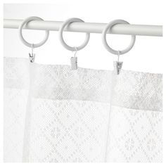 PORTION Anilla cortina con clip y gancho - tinte blanco - IKEA Ikea, Bath Mat, Curtains, Shower, Bathroom, Design, Inspiration, Home Decor, Products