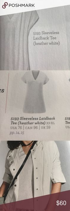 Cabi Spring 2917 Sleeveless Laidback Tee Heather white/super soft and comfy/97% Rayon/3% Spandex/machine washable/NWT (still in bag) CAbi Tops Tees - Short Sleeve