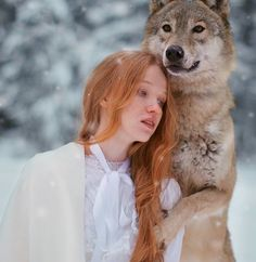 Harmony with nature in the portraits of girls with wild animals 05