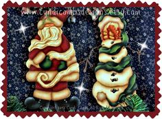 CC116 - It's A Wrap Ornaments - Painting E-Pattern - pinned by pin4etsy.com