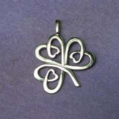 Celtic Shamrock silver lucky charm pendant by YANKAcreations, $49.90