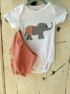 Circus Boys Diaper Cover Set in Red and White by zoegirldesigns, $27.50