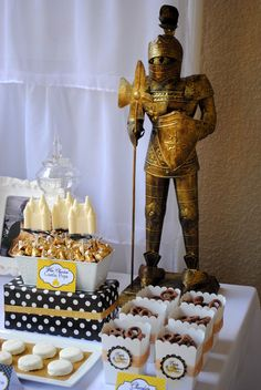 """Photo 16 of 30: Knights and Princesses / Birthday """"Brody & Skylar's Knight and Princess Party"""" 