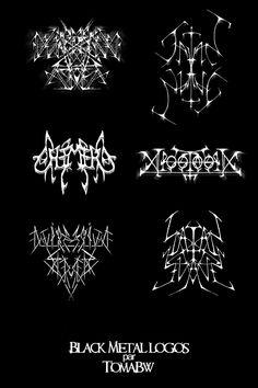Black Metal logos 2 by ~tomabw on deviantART