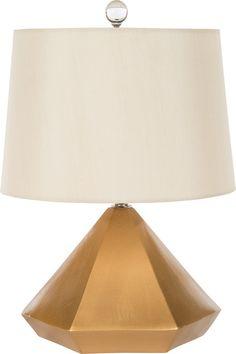 Gold Pyramid lamp from Bradburn Gallery Home