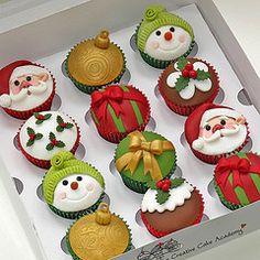 Prachtige kerstcupcakes