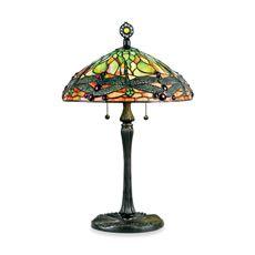 Quoizel Green Dragonfly Tiffany 2-Light Table Lamp